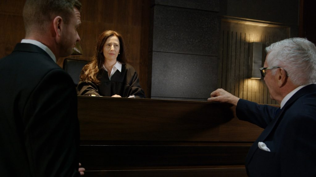 Scene in a court of law