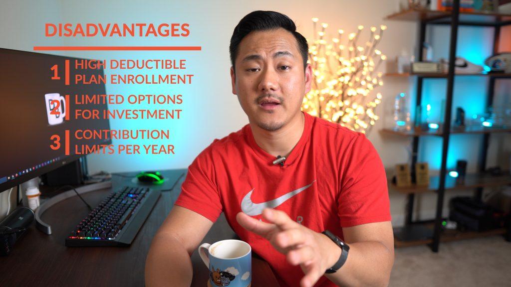 Daniel explaining disadvantages