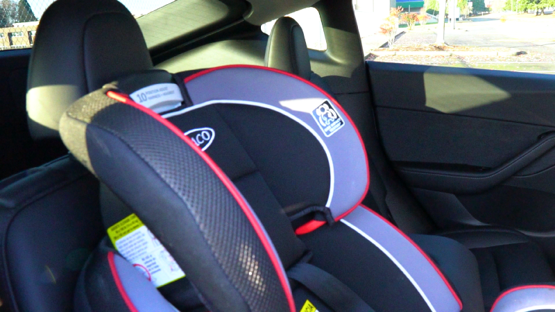 Picture of baby seat in the Model Y