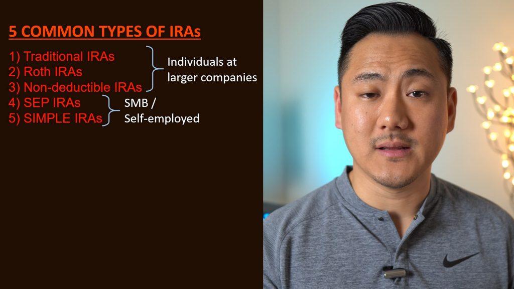 Daniel showing chart of IRAs