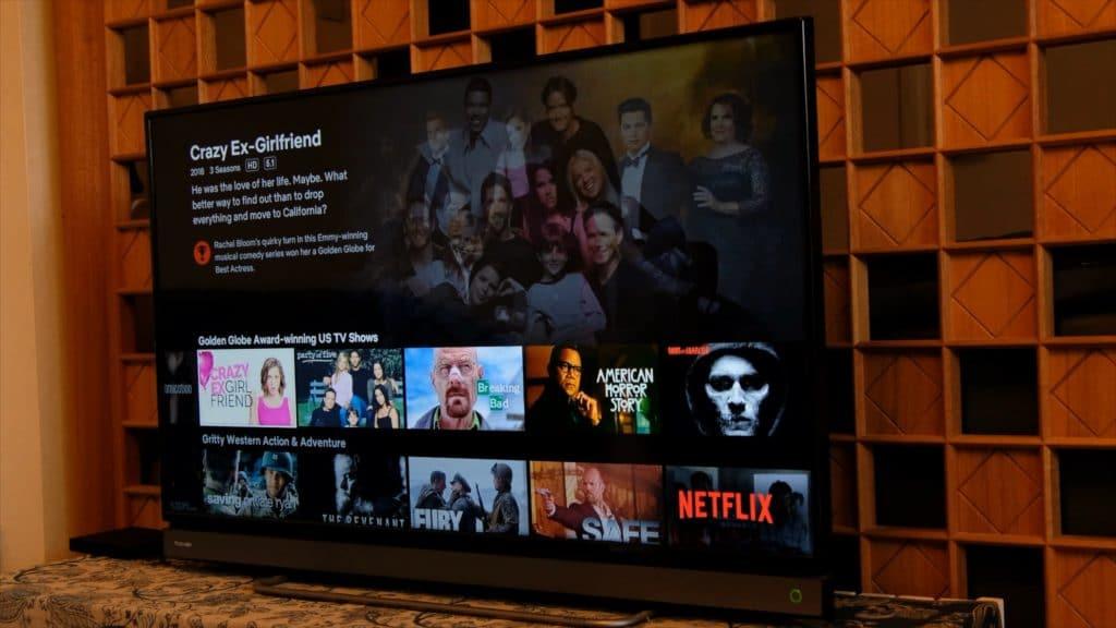 Netflix Tv Screenshot showing menu