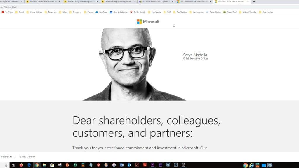 Screen Shot of Microsoft CEO Head Image