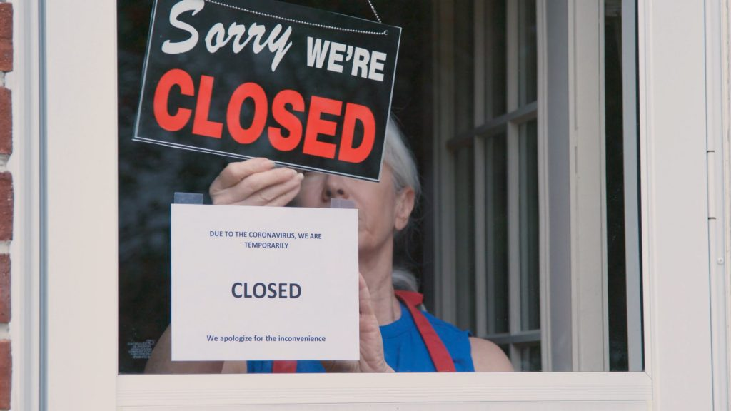 Business closed sign image
