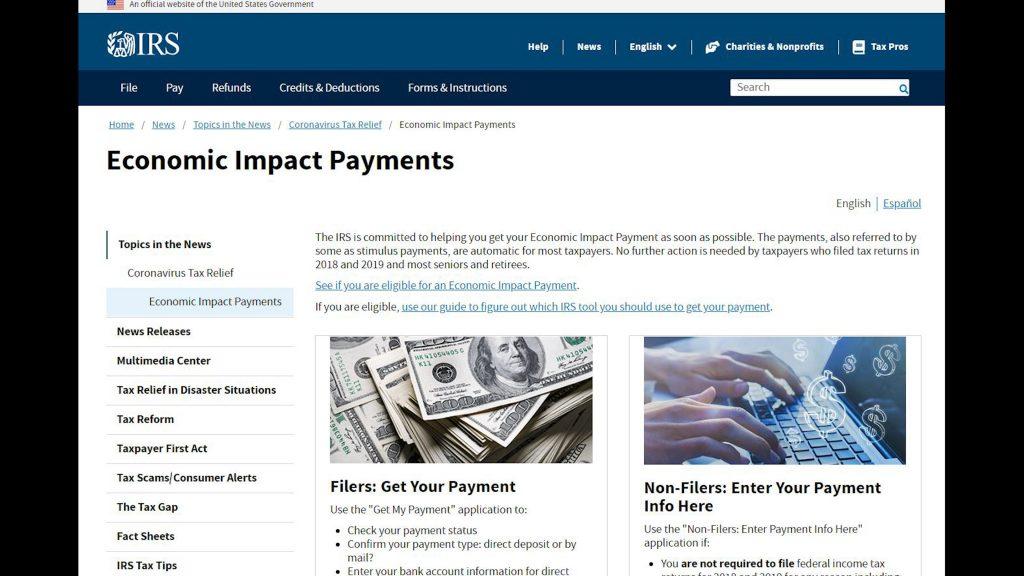 IRS EIP website image