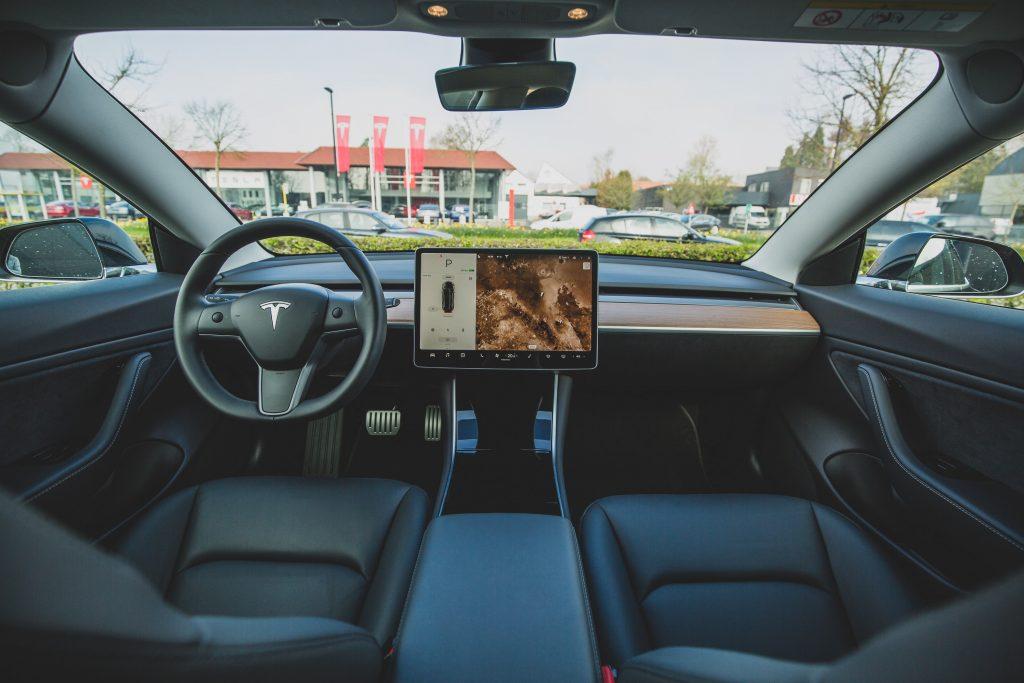 Interier of Tesla Cabin