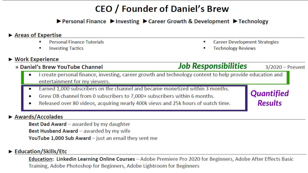 Daniel's Brew Resume Image 2