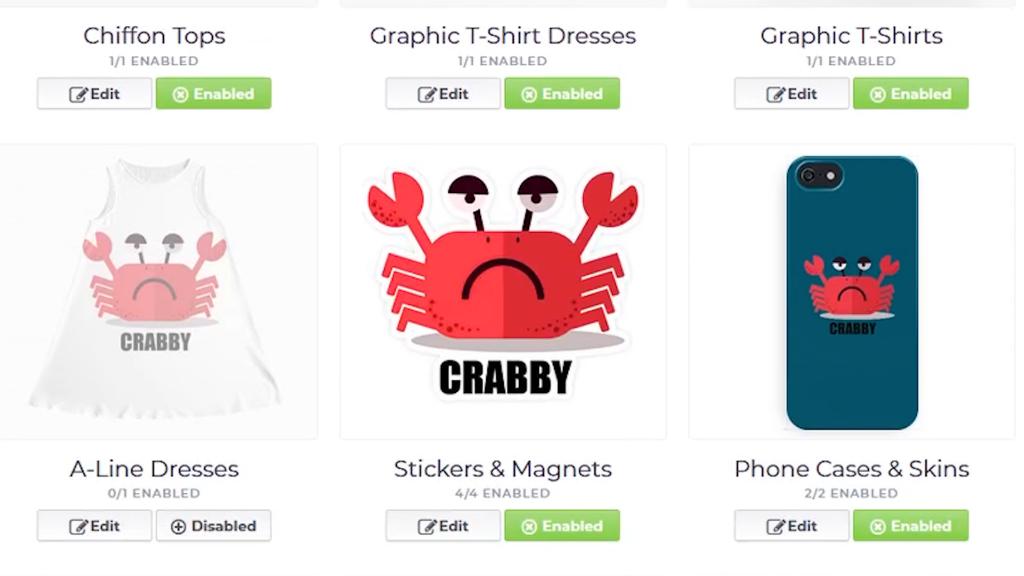 Screenshot of Crabby design
