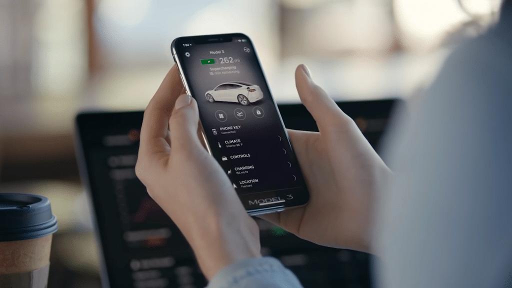 Tesla App on phone