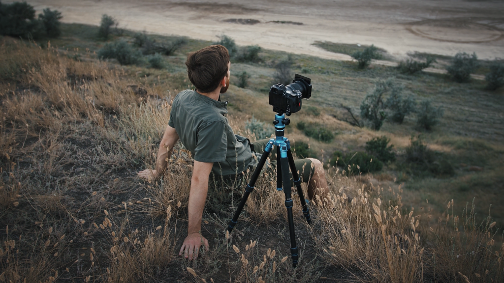 Photographer on hill